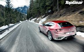 Picture Ferrari, red, top gear