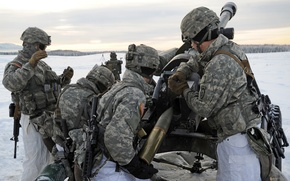 Picture 105mm, U.S. Army Alaska, artillerymen