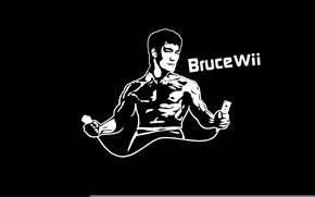 Picture Bruce, humor, Wii