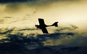 Wallpaper Photo, flight, background, the plane, picture, Wallpaper, color, the sky, clouds