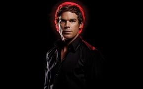 Picture actor, Dexter, the series, black background, Dexter, Michael C. Hall, Michael C. Hall, Dexter