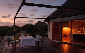 Picture night, hotel, Africa, safari, luxury, terrace, Mozambique