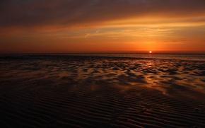 Picture sea, the sun, sunset, horizon, Sunset