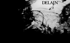 Picture style, music, Delain, black and white