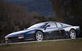 Picture Dark, Ferrari, Blue, 512, Testarossa
