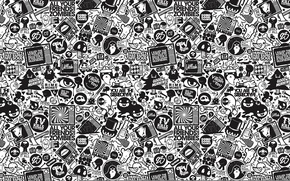 Picture texture, drawings, black and white