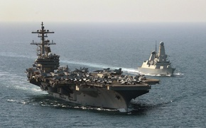 Picture sea, weapons, USS George HW Bush