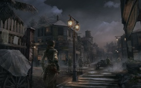 Picture New Orleans Dusk, the city, assassin, girl, night, Evelyn, Assassin's creed 3, Assassin's Creed 3