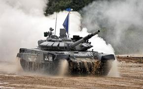 Wallpaper Russia, T-72 B3, Tank Biathlon, Tank