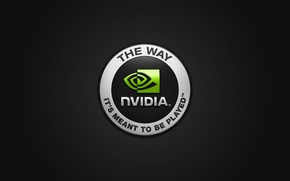 Picture nvidia, logo, the way its meant to be played