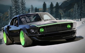 Picture winter, auto, Need for Speed, Ford Mustang Boss 302-69