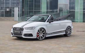 Picture Audi, the building, area, drives, Cabriolet, 2015