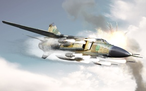 Wallpaper attack, missiles, the MiG-23