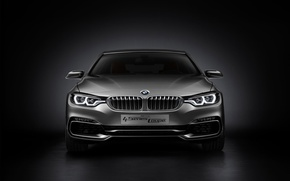 Picture Concept, BMW, Car, Coupe, 2013, Silver, 4 Series, BMW 4 Series Coupe Concept 2013, Front …