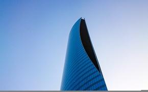 Picture glass, sky, design, skyscraper, architecture, Building, height, high
