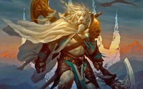 Picture Leo, armor, Warrior, axe