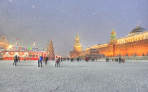 Wallpaper Moscow, red square, new year, new year