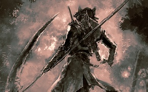 Picture art, braid, Hunter, Hunter, art, Bloodborne