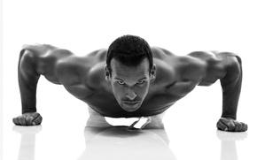 Picture men, fitness, pushups