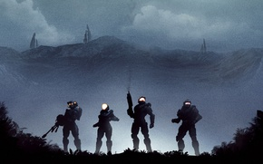 Picture night, soldiers, kelly, halo, spartan, linda, master chief, Halo 5: Guardians, blue team, guardians, Kelly-087, …