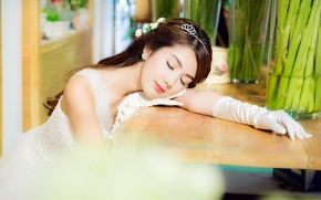 Picture girl, mood, Asian