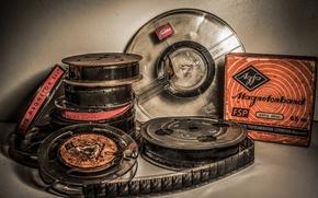 Picture vintage, films, Toshiba, Magnetonband, roll of films