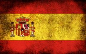 Wallpaper flag, Spain, dirt