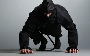 Picture ninja, ninja, shinobi, black suit