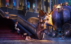 Wallpaper Cinderella, coach, Prince