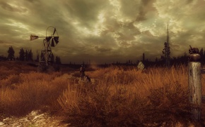 Picture landscape, Wallpaper, the game, people, dog, fallout 3, fallout 3, vault boy, vault 101