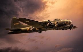 Picture weapons, the plane, Boeing B-17G