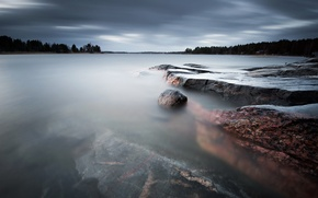 Picture sea, landscape, stones, Sweden, Västra Skagene in Värmland