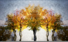 Picture trees, style, background