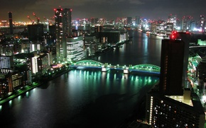 Picture night, the city, panorama, tokyo