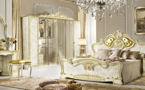 Picture furniture, bed, interior, mansion, luxury, bedroom