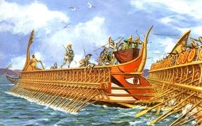 Picture the sky, clouds, birds, figure, the battle, Taran, swords, arrows, shields, spears, Luke, Trier, the ...