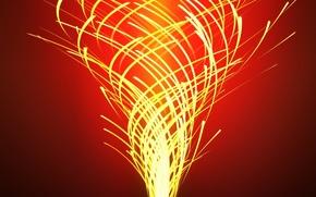 Picture light, line, Wallpaper, ray, spiral, vortex
