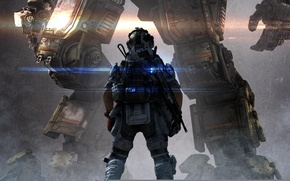 Picture Lights, Robot, Light, Soldiers, Hunter, Electronic Arts, Pilot, Titan, Equipment, Weapons, Titanfall, Respawn Entertainment, Dust