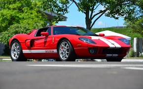 Picture red, ford, gt