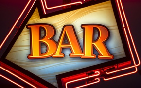 Picture Neon, advertising, BAR, BAR