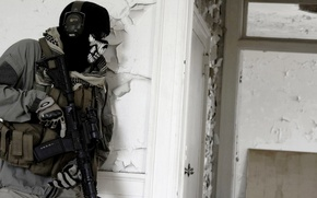 Wallpaper glasses, storm, call of duty, modern warfare 2, Balaclava, house, Ghost, soldiers, ghost, skull, M16, ...