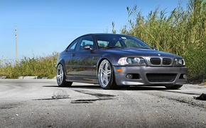 Picture the sky, asphalt, BMW, silver, BMW, silvery, e46