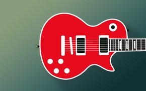 Picture guitar, The Paul, Gibson, flat, flat design