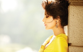 Wallpaper Anushka Sharma, girl, girl, brunette, actress, pretty, sexy, actress, celebrity, bollywood, pose, beauty, Indian, model, ...