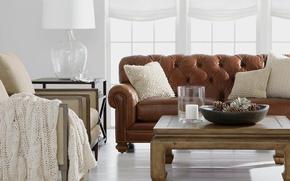 Picture room, sofa, Windows, interior, chair