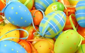 Wallpaper pattern, eggs, Easter, bow