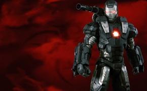 Picture cinema, gun, soldier, armor, weapon, Iron Man 2, power, Iron Man, man, Marvel, movie, hero, …