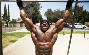 Picture muscle, muscle, street, muscles, press, pose, bodybuilder, training, abs, bodybuilder, Kali Muscle, Kali Muscle