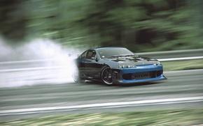 Picture tuning, smoke, skid, nissan, drift, silvia, s15, drifting