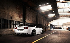 Wallpaper roof, the sky, tuning, supercar, corvette, Chevrolet, zr1, rear view, chevrolet, tuning, Corvette, tikt tripple-x